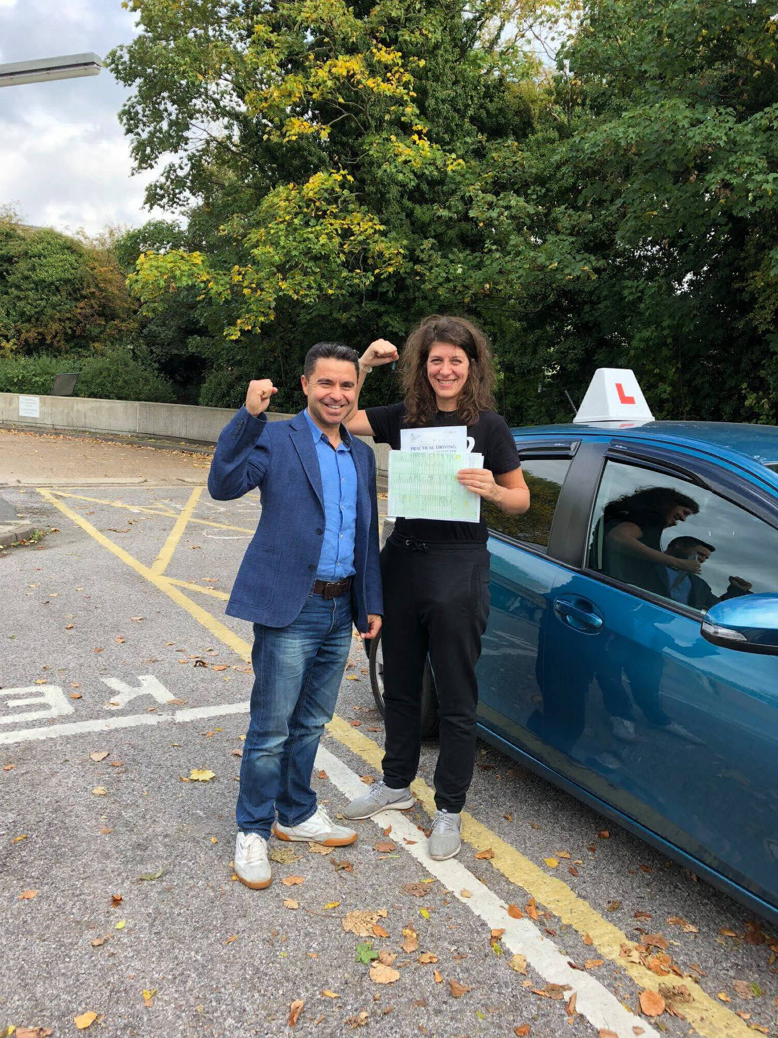 Driving student who passed her driving test after lessons with ECOL Driving School
